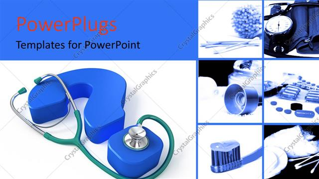 Powerpoint template medical collage with stethoscope on a blue powerpoint template displaying medical collage with stethoscope on a blue question mark toneelgroepblik Choice Image
