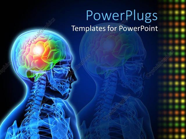 Powerpoint template medical design neuron brain damage x ray powerpoint template displaying medical design neuron brain damage x ray description of brain issue toneelgroepblik Image collections