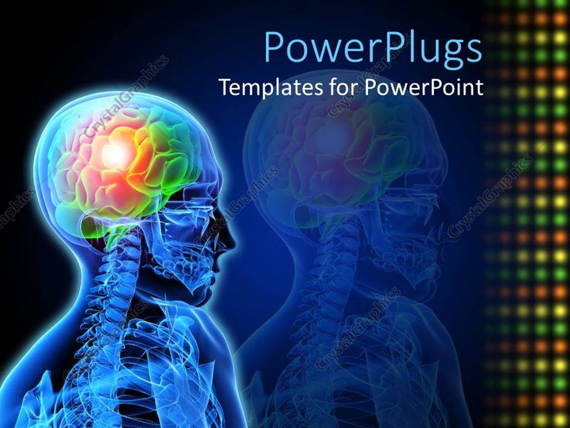 Powerpoint Template Medical Design Neuron Brain Damage X Ray