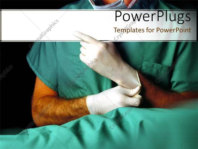 Powerpoint template medical doctor puts on latex gloves for powerpoint template displaying medical doctor puts on latex gloves for treatment toneelgroepblik Images
