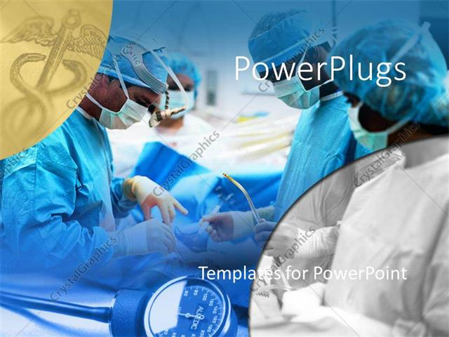 Powerpoint template medical surgical team performing surgery powerpoint template displaying medical surgical team performing surgery operation hospital caduceus toneelgroepblik Images