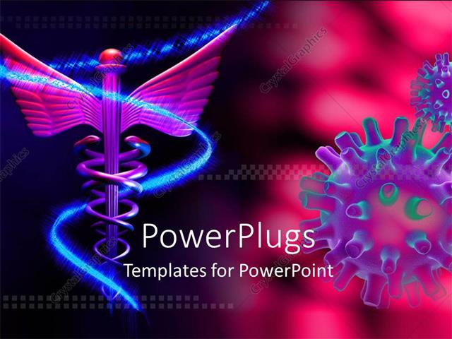Powerpoint template medical symbol and virus over pink background powerpoint template displaying medical symbol and virus over pink background toneelgroepblik
