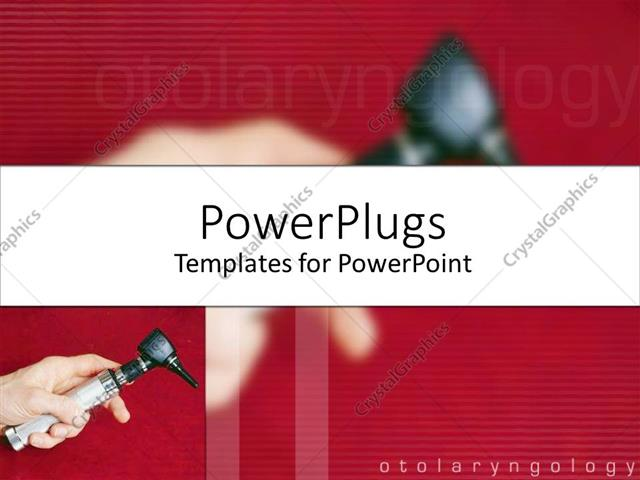 Powerpoint Template Medical Theme With Doctor Hand Holding Otoscope