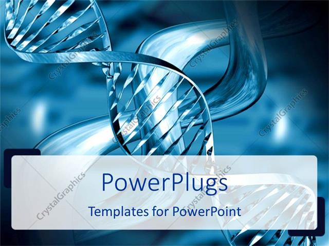 PowerPoint Template: medical theme representing silvery blue DNA ...