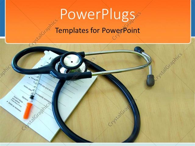 Powerpoint Template Medical Theme With Stethoscope On Prescription