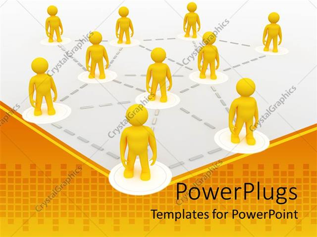 PowerPoint Template: Metaphor for franchise, teamwork, networking ...
