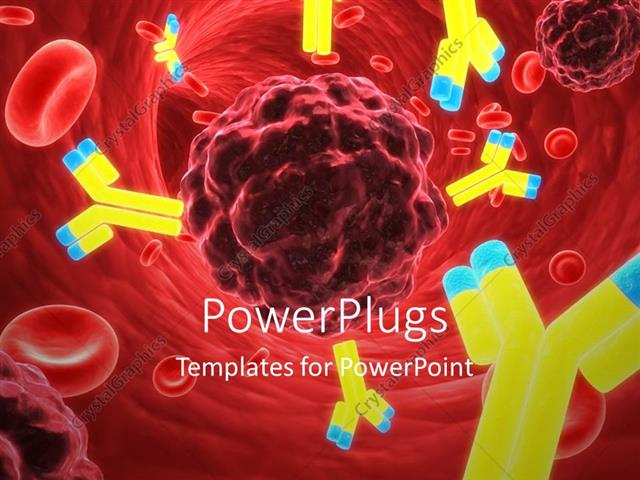 Powerpoint template microscopic view of lots of red blood cells and powerpoint template displaying microscopic view of lots of red blood cells and antibodies toneelgroepblik Gallery