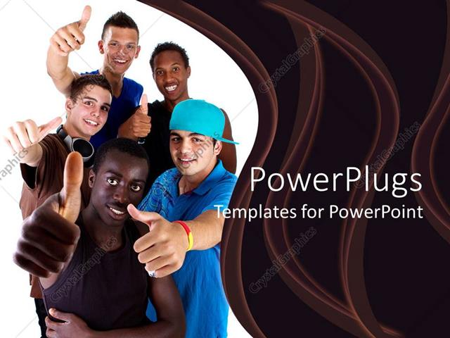 Powerpoint template millennial teenagers giving thumbs up sign powerpoint template displaying millennial teenagers giving thumbs up sign success diversity toneelgroepblik Choice Image
