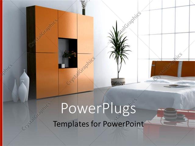Powerpoint template modern bedroom interior with matrimony bed powerpoint template displaying modern bedroom interior with matrimony bed plant wardrobe vases toneelgroepblik Gallery