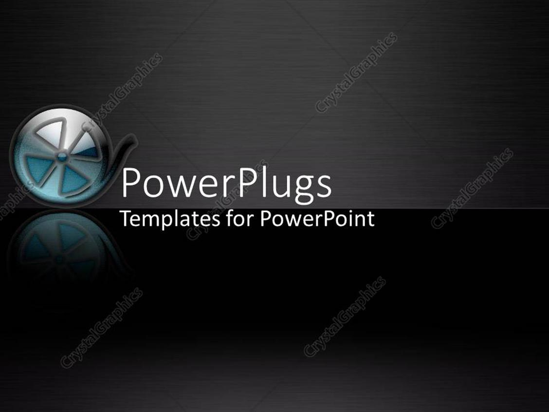 PowerPoint Template: modern film roll on black background, film ...