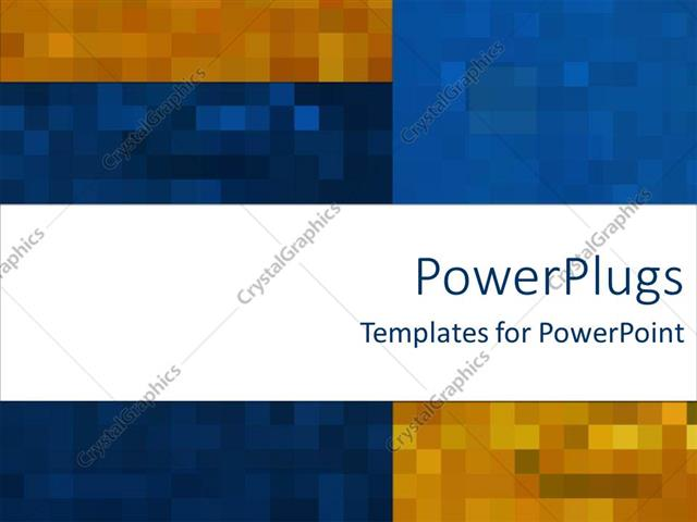 PowerPoint Template Mosaic Madness On Rich Blue And Orange