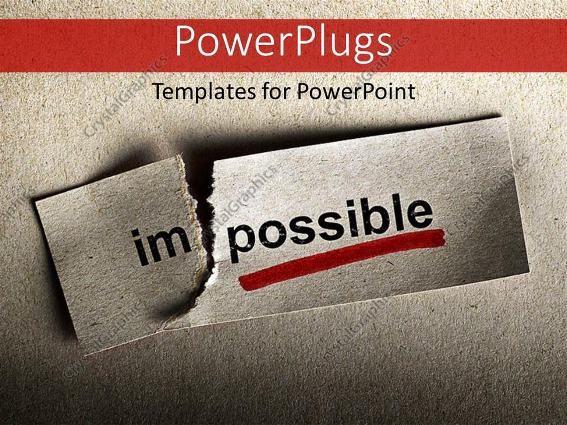 PowerPoint Template: Motivational concept with word ...