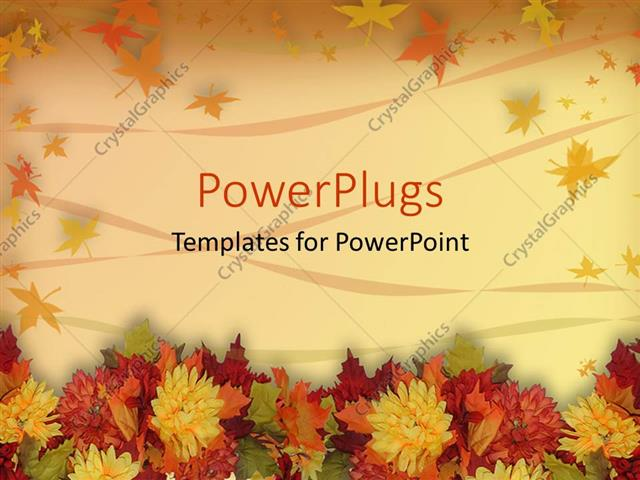 Powerpoint template multicolored autumn leaves with orange yellow powerpoint template displaying multicolored autumn leaves with orange yellow red green fall colors on a toneelgroepblik Image collections