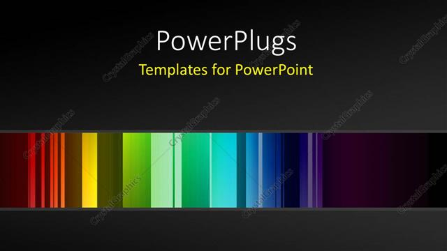 PowerPoint Template Displaying Different Shades of Coloures Over a Black Background