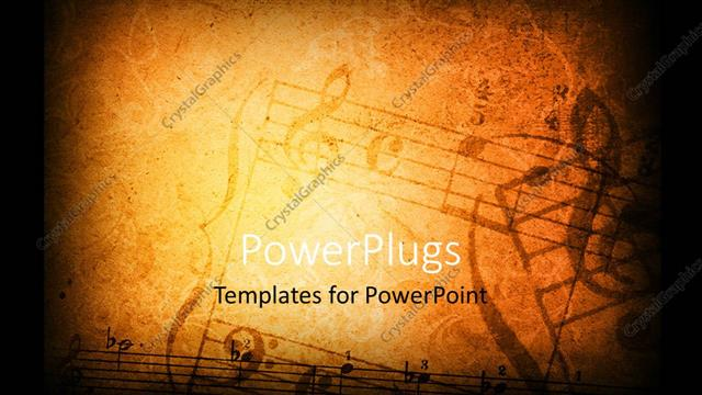 Powerpoint Template Music Grunge Background With Different Music