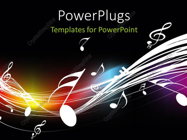 ppt template music
