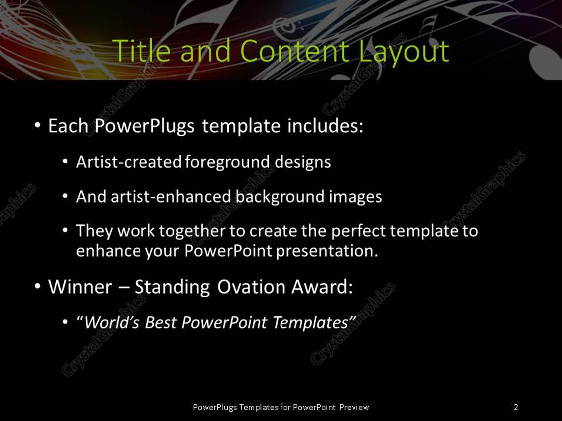 Powerpoint template music symbols floating over curves on dark powerpoint products templates secure alramifo Gallery