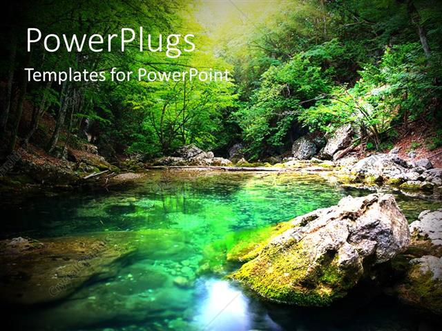 Powerpoint template natural composition with river deep in powerpoint template displaying natural composition with river deep in mountain forest toneelgroepblik Image collections
