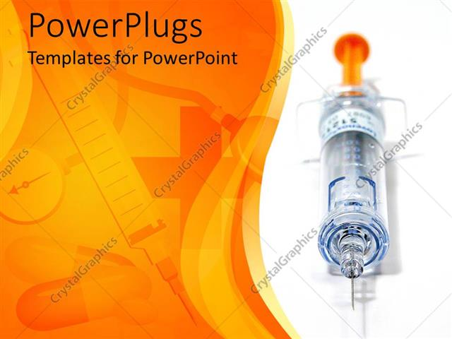 Powerpoint template needle and syringe with capsules and medical powerpoint template displaying needle and syringe with capsules and medical instruments faded in toneelgroepblik Image collections