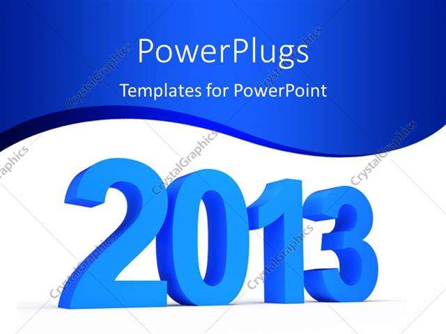 Powerpoint template the new year celebrations of 2013 with bluish powerpoint template displaying the new year celebrations of 2013 with bluish background toneelgroepblik Image collections