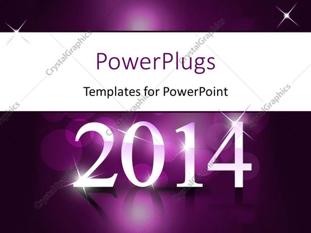 Powerpoint template new year depiction with year 2014 on reflective powerpoint template displaying new year depiction with year 2014 on reflective purple surface toneelgroepblik Image collections