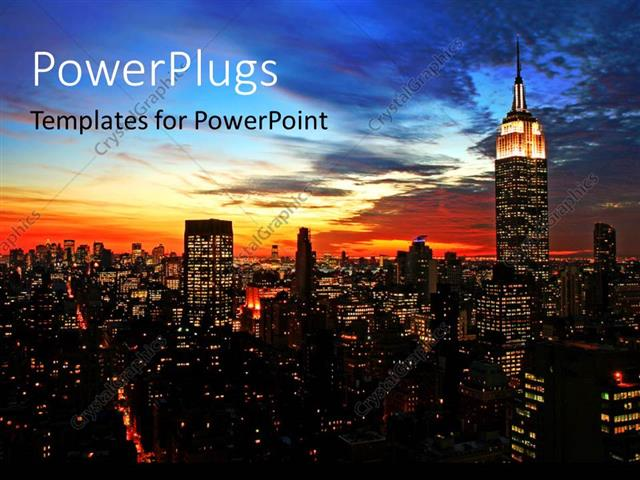 Powerpoint template new york city midtown skyline at dark 22225 powerpoint template displaying new york city midtown skyline at dark toneelgroepblik Images