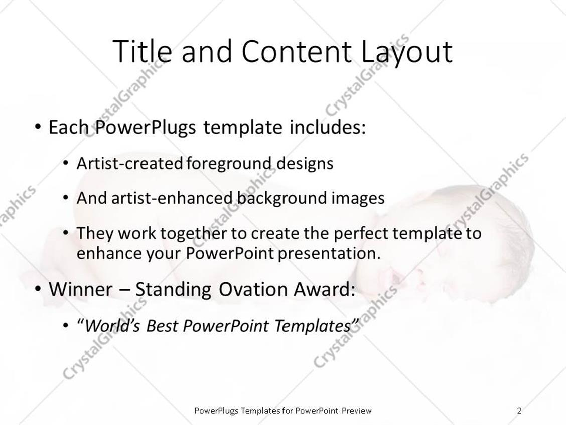 Powerpoint template newborn baby sleeping over white background powerpoint products templates secure alramifo Choice Image