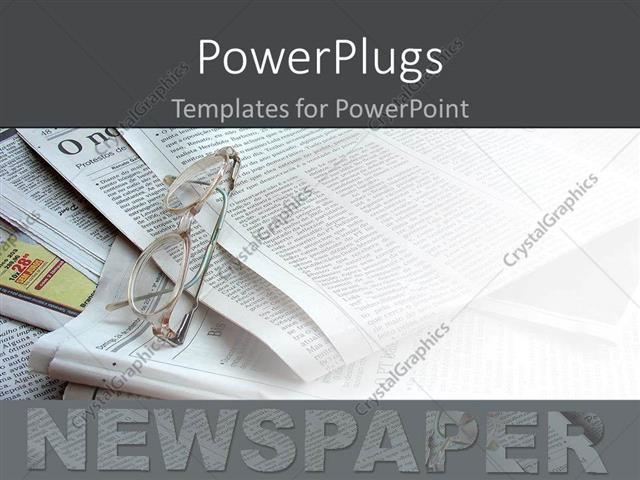 Powerpoint template newspapers in the background white glasses powerpoint template displaying newspapers in the background white glasses being placed over them toneelgroepblik Image collections