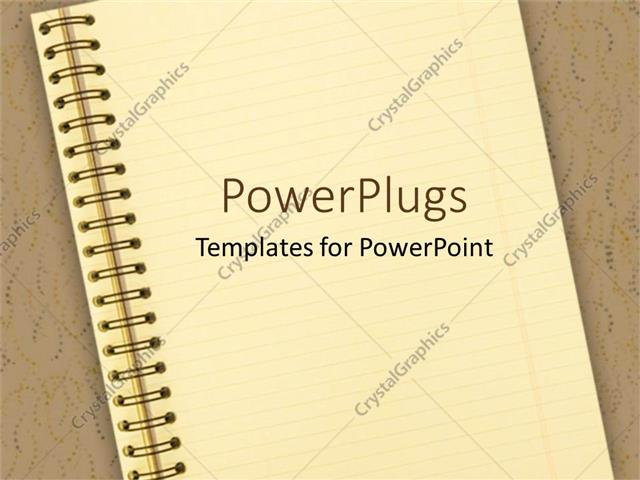 Powerpoint Template Notebook On Brown Background School Education
