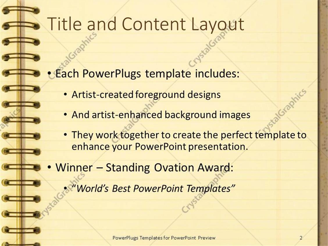Powerpoint template notebook on brown background school powerpoint products templates secure toneelgroepblik Choice Image