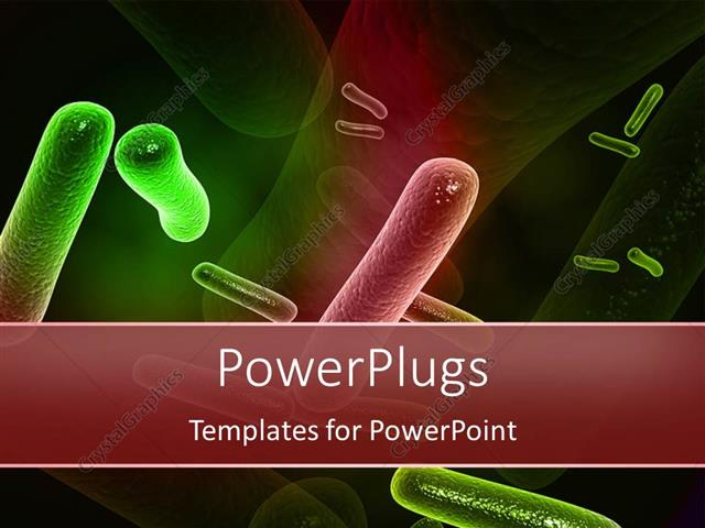 Powerpoint template a number of bacteria with their reflection in powerpoint template displaying a number of bacteria with their reflection in the background toneelgroepblik Images