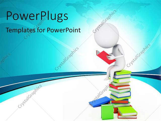 Powerpoint template a number of books and a person reading one 10731 powerpoint template displaying a number of books and a person reading one toneelgroepblik Images