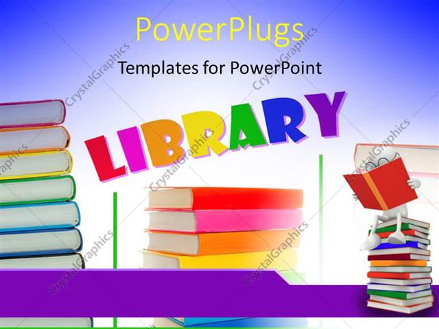 Powerpoint template a number of books with the word library 7671 powerpoint template displaying a number of books with the word library toneelgroepblik Images
