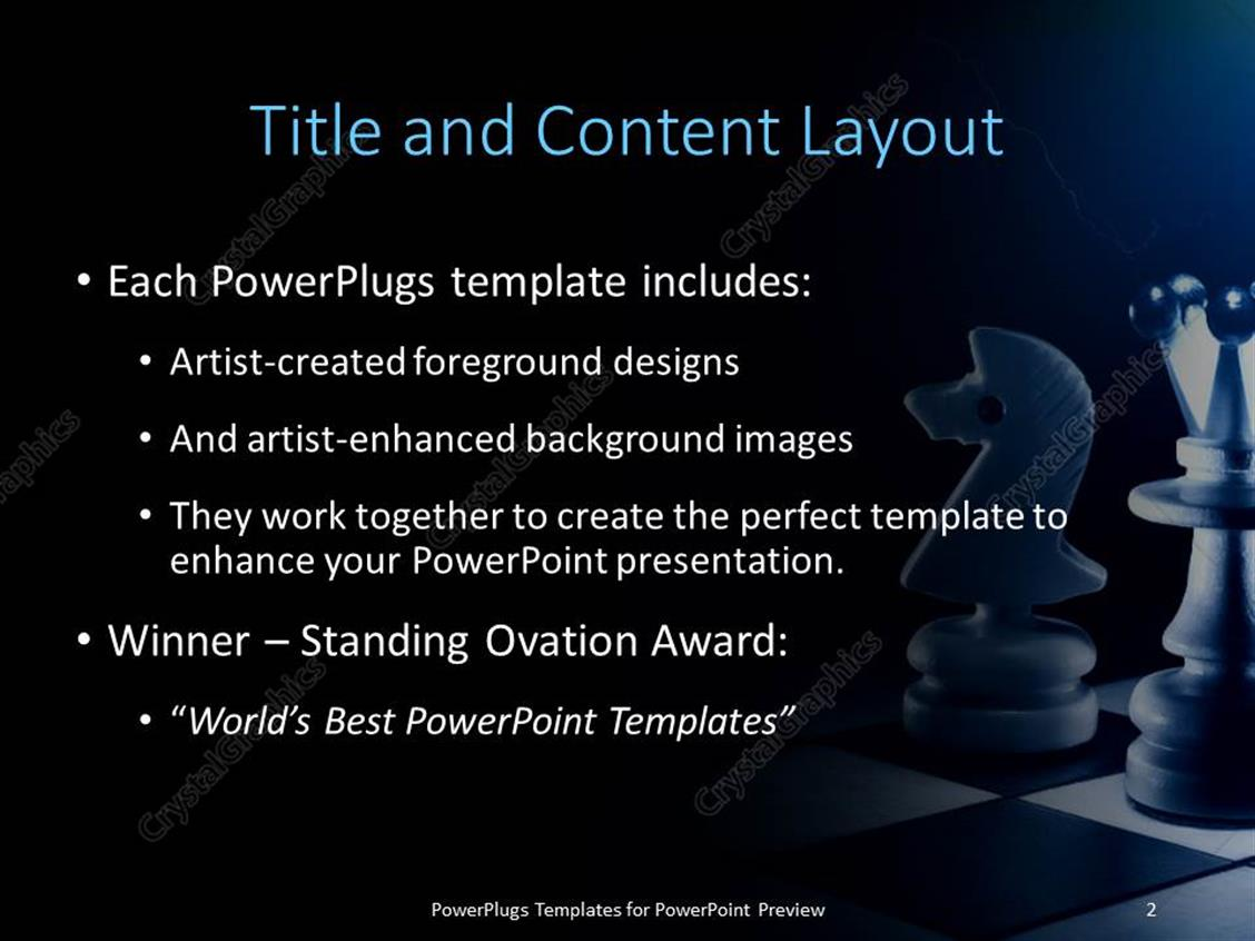 Powerpoint template a number of chess pieces with lightning bolt in of fortune 1000 companies use our powerpoint products templates secure standing ovation award yelopaper Images