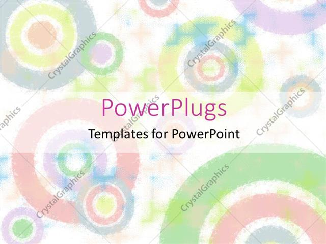 PowerPoint Template Displaying a Number of Colorful Circles with White Background