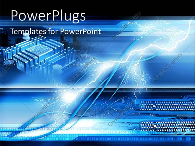 Powerpoint template a number of dots with an electric bolt 29185 powerpoint template displaying a number of dots with an electric bolt toneelgroepblik Choice Image