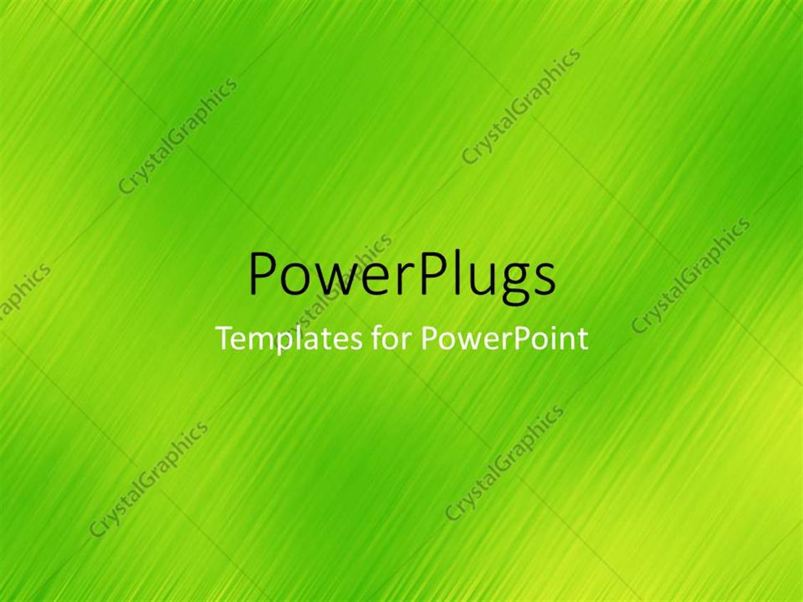 PowerPoint Template Displaying a Number of Green Lines with Place for Text