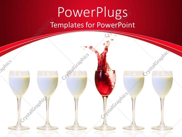 Powerpoint template a number of milk glasses with a one of wine 30339 powerpoint template displaying a number of milk glasses with a one of wine toneelgroepblik Images