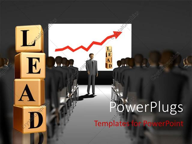 PowerPoint Template A Number Of People Attending A Lecture With The