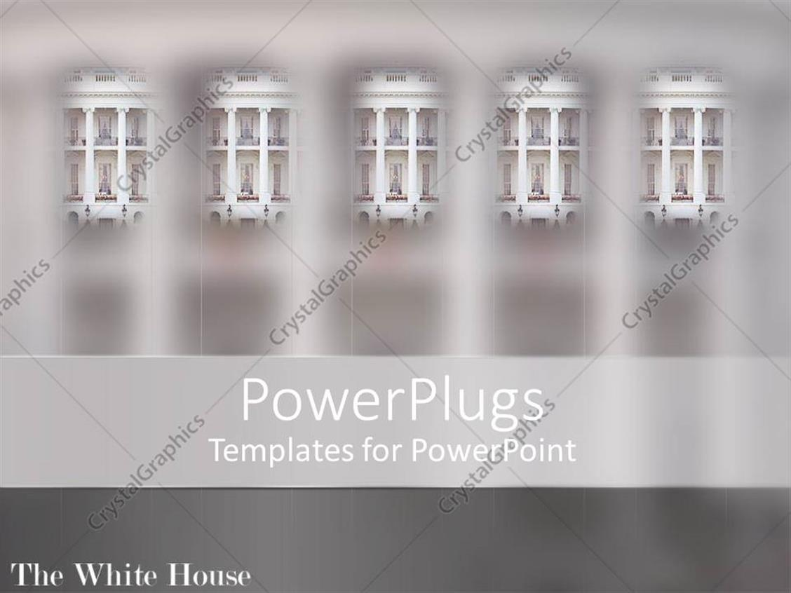 PowerPoint Template: a number of windows with grayish background (1605)