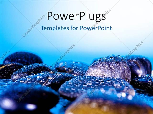 Powerpoint template a number of zen stones with bluish background powerpoint template displaying a number of zen stones with bluish background toneelgroepblik Images