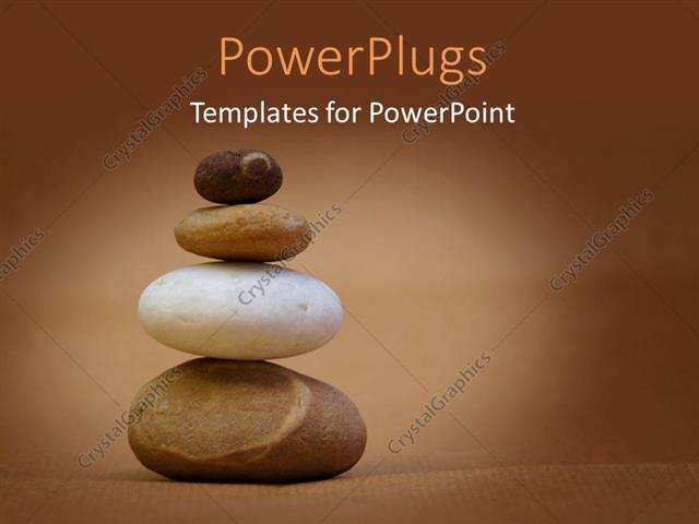 Powerpoint template a number of zen stones with brownish background powerpoint template displaying a number of zen stones with brownish background and place for text toneelgroepblik Gallery