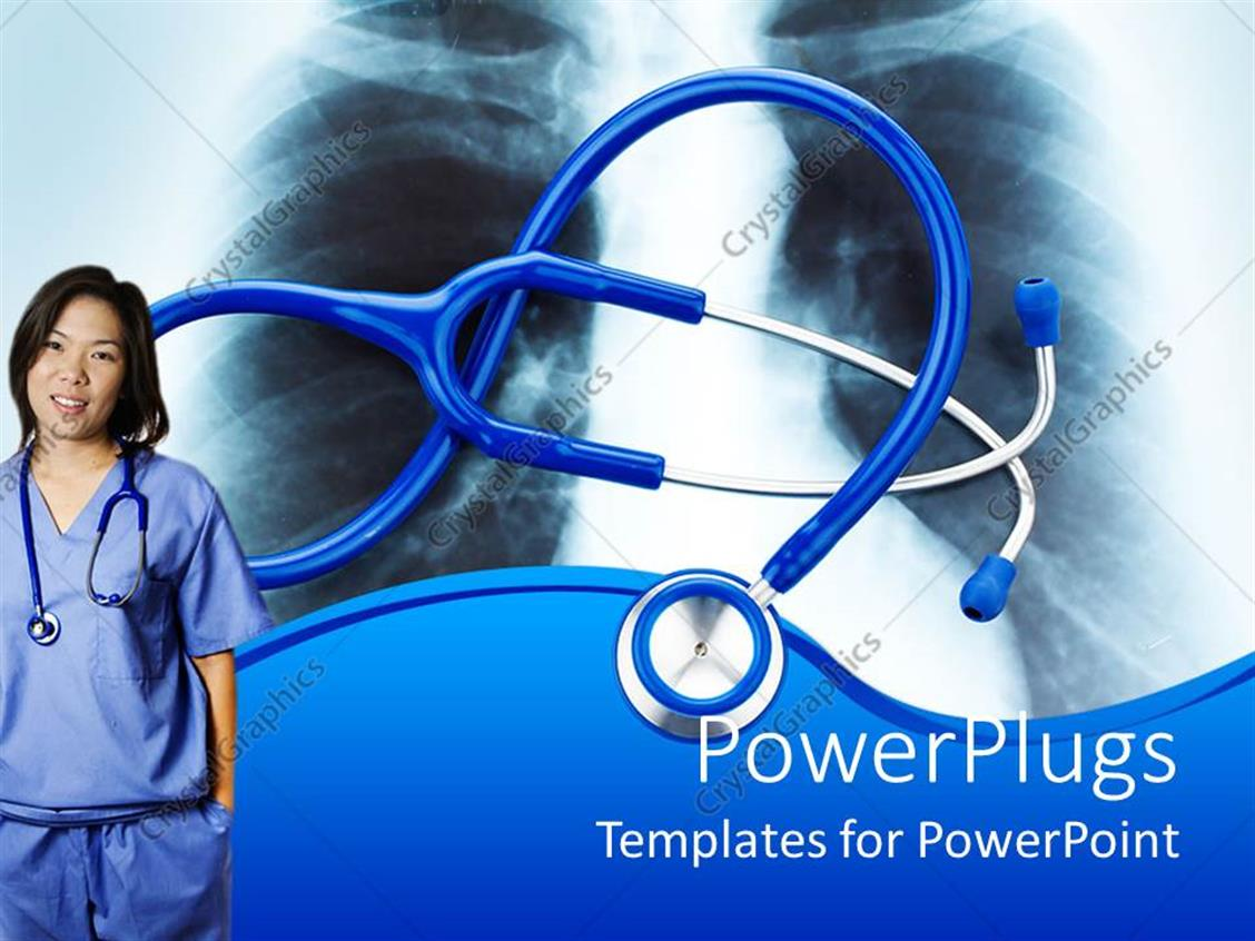 Powerpoint template nurse with stethoscope and chest x ray in powerpoint template displaying nurse with stethoscope and chest x ray in background alramifo Gallery