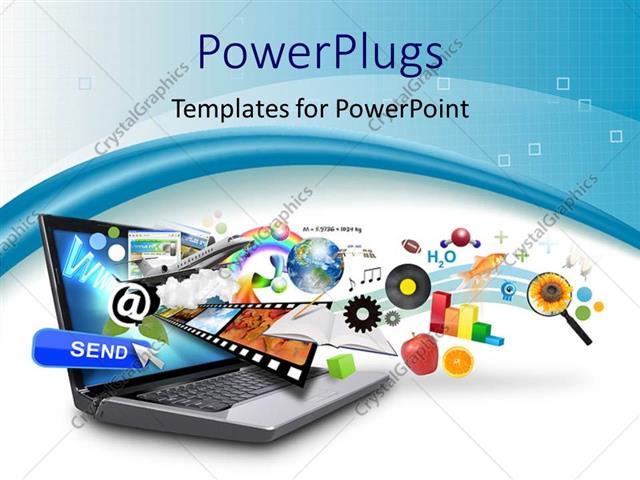 Powerpoint template objects like email earth film strip bar powerpoint template displaying objects like email earth film strip bar graph internet toneelgroepblik Gallery