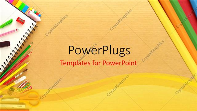 Powerpoint template office stationary on a cardboard backdrop 25848 powerpoint template displaying office stationary on a cardboard backdrop toneelgroepblik Gallery