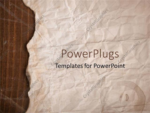 Powerpoint Template Old Brown Paper With Slightly Burnt Edges 22455