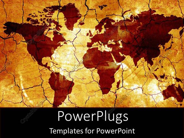 Powerpoint template old fashioned gold world map and countries on powerpoint template displaying old fashioned gold world map and countries on tan background gumiabroncs Gallery