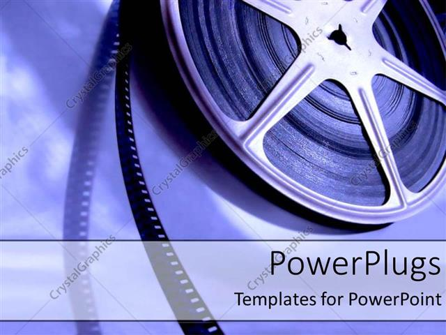 Powerpoint Template Old Fashioned Movie Film Industry Playing And