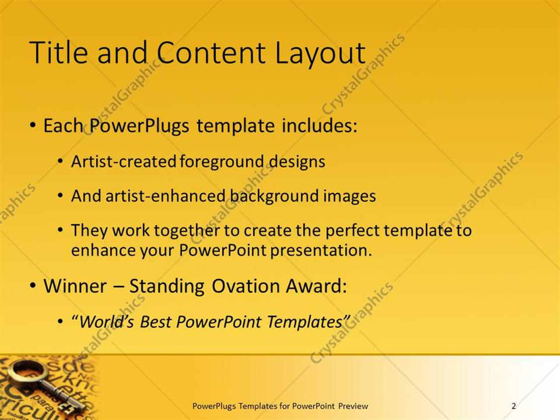Powerpoint template old skeleton key laying on yellowed paper powerpoint products templates secure alramifo Image collections