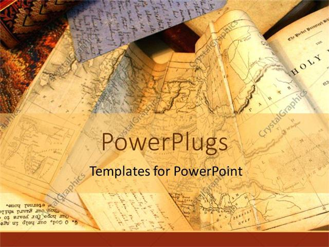 Powerpoint template old tan maps of the world for travelers powerpoint template displaying old tan maps of the world for travelers planning routes longitude and toneelgroepblik Gallery